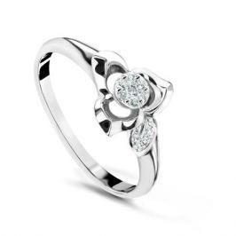 Кольцо с бриллиантами из белого золота VALTERA 54067