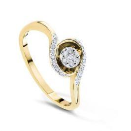 Кольцо с бриллиантами из желтого золота VALTERA 54079