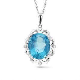 Колье с топазами и бриллиантами из белого золота VALTERA 63763