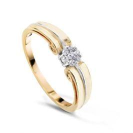 Кольцо с бриллиантами из розового золота VALTERA 50887