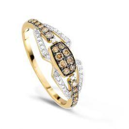 Кольцо с бриллиантами из желтого золота VALTERA 65986
