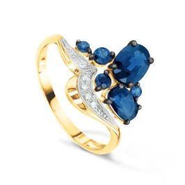 Кольцо с сапфирами и бриллиантами из розового золота VALTERA 52107
