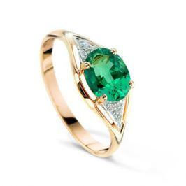 Кольцо с изумрудами и бриллиантами из розового золота VALTERA 48474