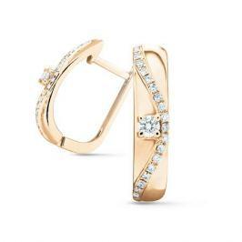 Серьги с бриллиантами из розового золота VALTERA 74725