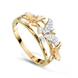 Кольцо с бриллиантами из желтого золота VALTERA 70188
