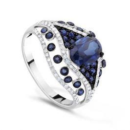 Кольцо с сапфирами и бриллиантами из белого золота VALTERA 65790