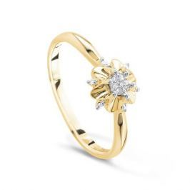 Кольцо с бриллиантами из желтого золота VALTERA 52756