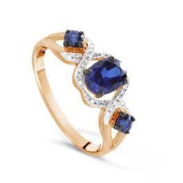 Кольцо с сапфирами и бриллиантами из розового золота VALTERA 71122