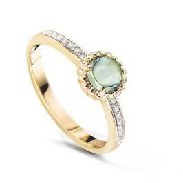 Кольцо с аметистами и бриллиантами из желтого золота VALTERA 53872