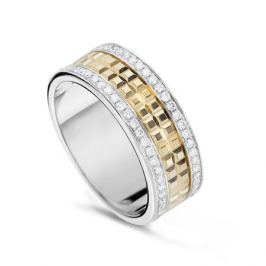 Кольцо с бриллиантами из желтого золота VALTERA 53661