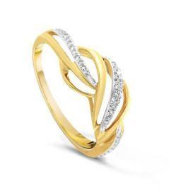 Кольцо с бриллиантами из желтого золота VALTERA 79709