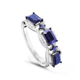 Кольцо с сапфирами и бриллиантами из белого золота VALTERA 50227