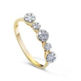 Кольцо с бриллиантами из желтого золота VALTERA 50284