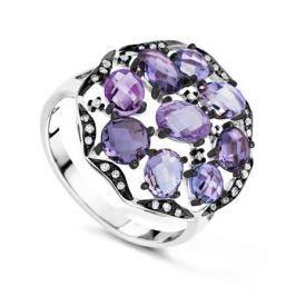 Кольцо с аметистами и бриллиантами из белого золота VALTERA 63728