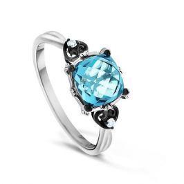 Кольцо с бриллиантами и топазами из белого золота VALTERA 65464