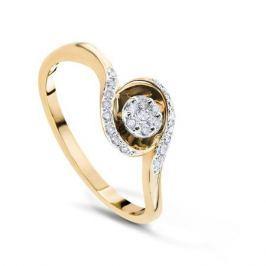 Кольцо с бриллиантами из розового золота VALTERA 54077
