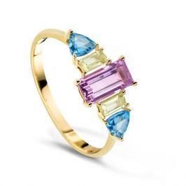 Кольцо с полудрагоценными камнями из желтого золота VALTERA 60797