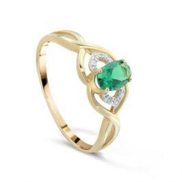 Кольцо с изумрудами и бриллиантами из розового золота VALTERA 89928