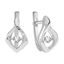 Серьги с бриллиантами из белого золота VALTERA 90593
