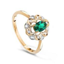 Кольцо с изумрудами и бриллиантами из розового золота VALTERA 73724