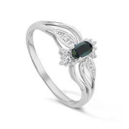 Кольцо с сапфирами и бриллиантами из белого золота VALTERA 44011