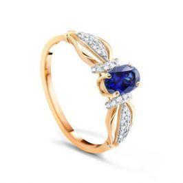 Кольцо с сапфирами и бриллиантами из розового золота VALTERA 90048