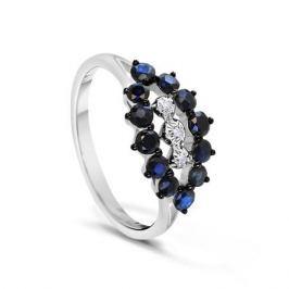 Кольцо с сапфирами и бриллиантами из белого золота VALTERA 54739