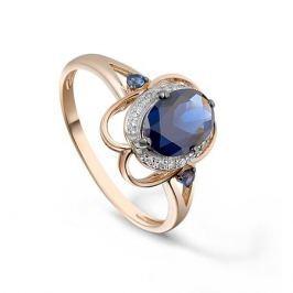 Кольцо с сапфирами и бриллиантами из розового золота VALTERA 92684