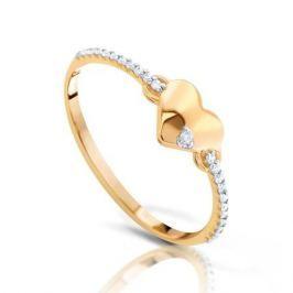 Кольцо из розового золота 87478