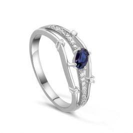 Кольцо с сапфирами и бриллиантами из белого золота VALTERA 39686