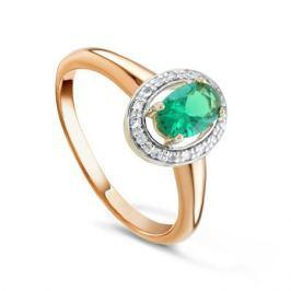 Кольцо с изумрудами и бриллиантами из розового золота VALTERA 92042