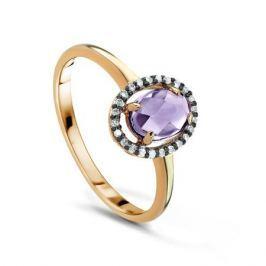 Кольцо с аметистами и бриллиантами из желтого золота VALTERA 53138