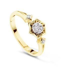 Кольцо с бриллиантами из желтого золота VALTERA 53951