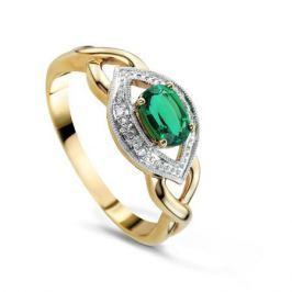 Кольцо с изумрудами и бриллиантами из розового золота VALTERA 75410