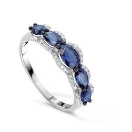 Кольцо с сапфирами и бриллиантами из белого золота VALTERA 75305