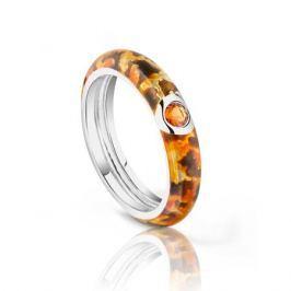 Кольцо с фианитами и эмалью из серебра VALTERA 93768