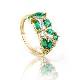 Кольцо с изумрудами и бриллиантами из розового золота VALTERA 94059