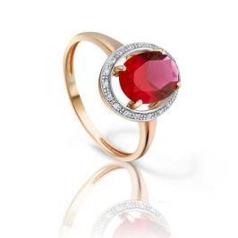 Кольцо с рубинами и бриллиантами из розового золота VALTERA 93175