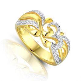 Кольцо с бриллиантами из серебра VALTERA 93457