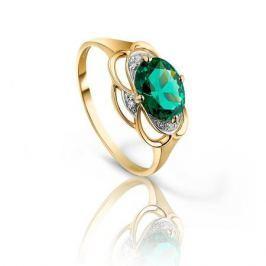 Кольцо с изумрудами и бриллиантами из розового золота VALTERA 92792