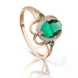 Кольцо с изумрудами и бриллиантами из розового золота VALTERA 93176