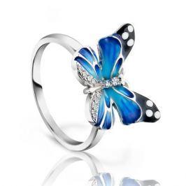 Кольцо с фианитами и эмалью из серебра VALTERA 91714