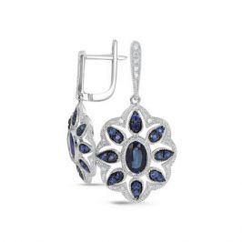 Серьги с сапфирами и бриллиантами из белого золота VALTERA 65739