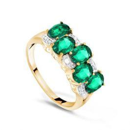 Кольцо с изумрудами и бриллиантами из розового золота VALTERA 70046
