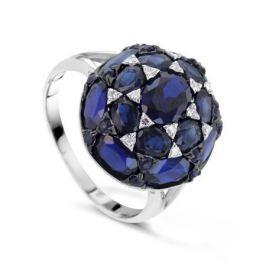 Кольцо с сапфирами и бриллиантами из белого золота VALTERA 66602