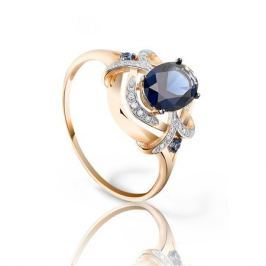 Кольцо с сапфирами и бриллиантами из розового золота VALTERA 94041