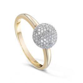Кольцо с бриллиантами из розового золота VALTERA 61398