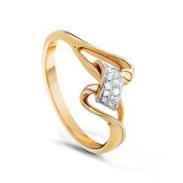 Кольцо с бриллиантами из желтого золота VALTERA 53922