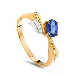 Кольцо с сапфирами и бриллиантами из розового золота VALTERA 18516