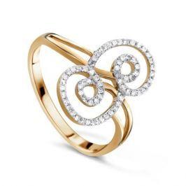 Кольцо с бриллиантами из розового золота VALTERA 61390